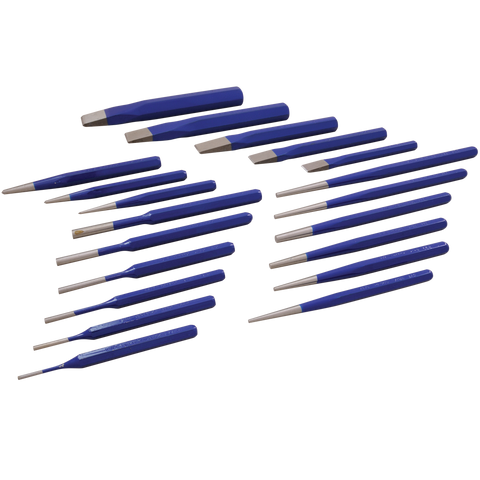 20 piece punch chisel set