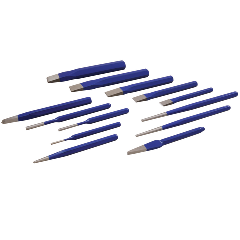 13 piece punch chisel set