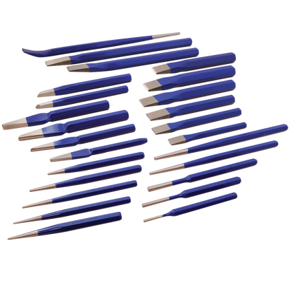 25 piece punch chisel set