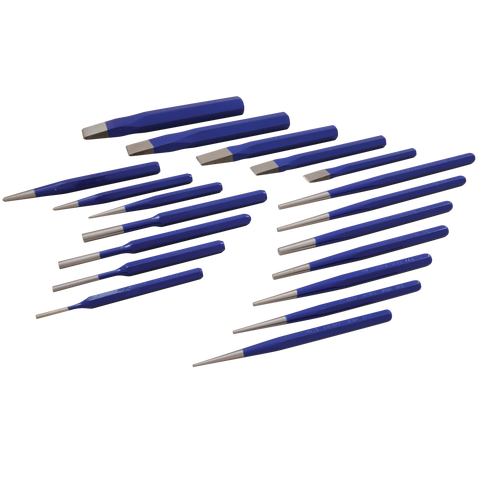 19 piece punch chisel set