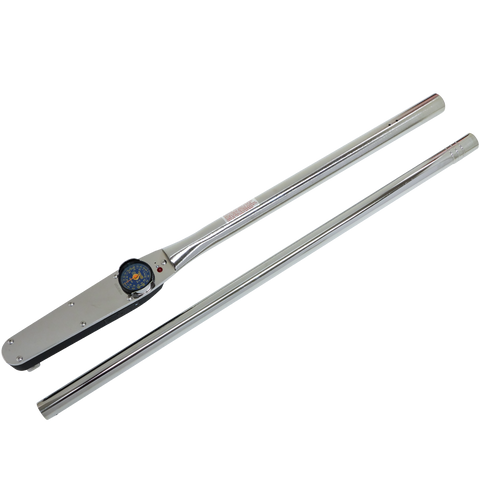 "1"" Dr. Dial Type with Memory Needle - Foot Pound Torque Wrench"