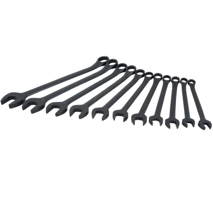 11 piece 12 point metric black combination wrench set