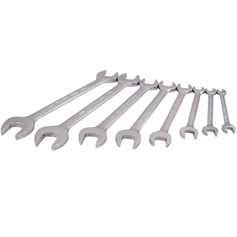 8 piece metric open end wrench set