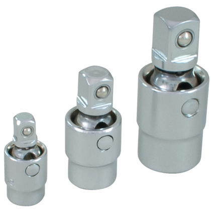3 piece chrome universal swivel joint