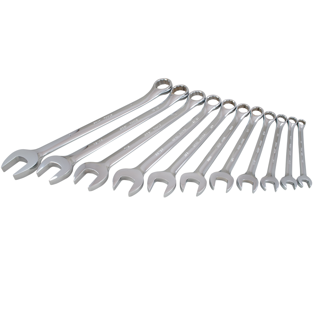 11 Piece SAE Combination Wrench Set