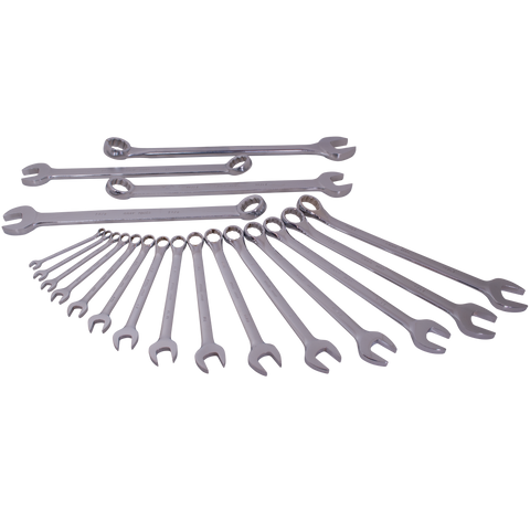 19 piece SAE combination wrench set