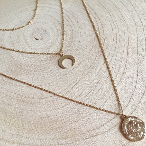 Collier Triple Moon