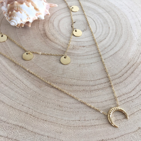 Collier Double Moon