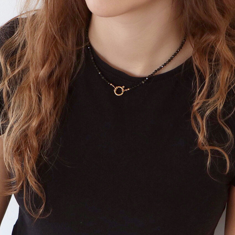 Collier Roma noir ras de cou Mix & Match
