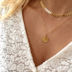 Collier double Laurier
