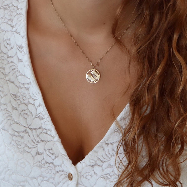 Collier feuilles Justine