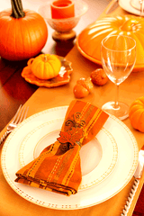 Orange table setting