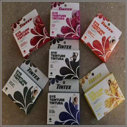 Dollarama Tintex Fabric Dye 50g Boxes