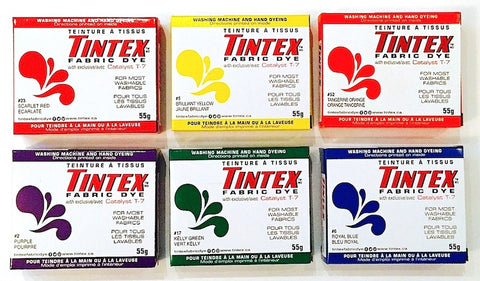 Tintex Fabric Dye Boxes