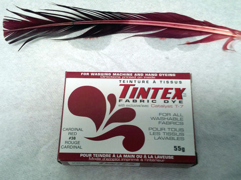 Cardinal red dyed feather