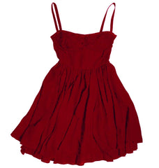 Dyed red dress