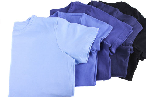 Blue dyed T-shirts
