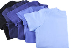 Dyed blue T-shirts