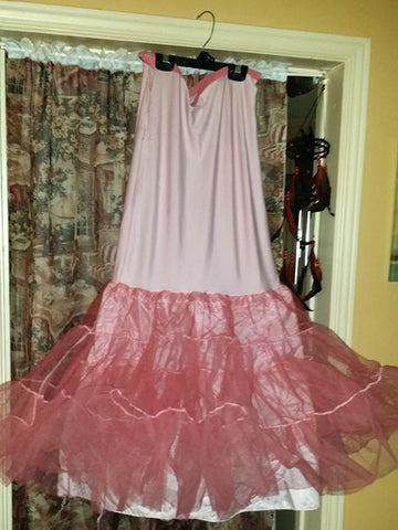 Pink dyed crinoline project