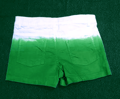 Green ombre shorts
