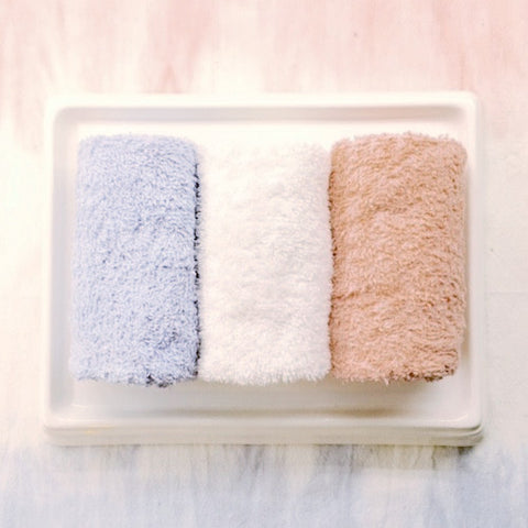 Pink and Blue Towels