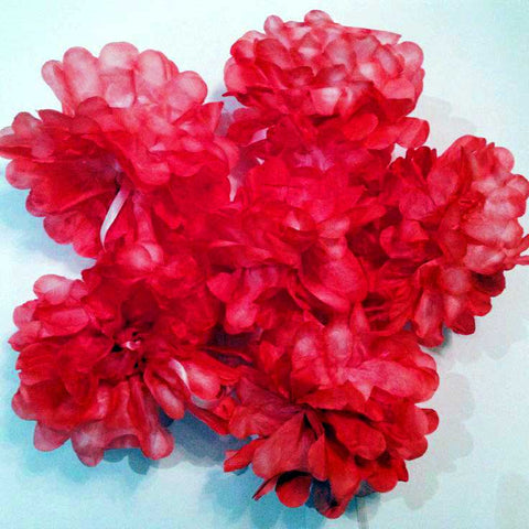 Valentines day craft dyed paper flower garland tintex fabric dye dyed paper flower garland mightylinksfo