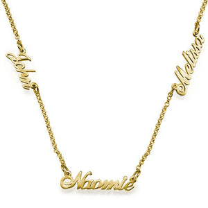 Multiple Name Chain Necklace
