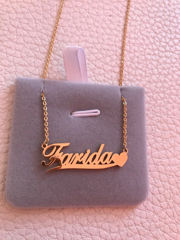 Farida Style w/ heart Personalized Necklace