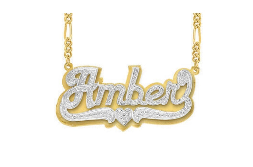 Amber Double Plated Style Personalized Necklace