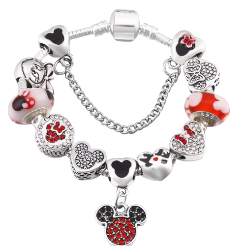 Mickey Mouse Bracelet and Earring Set