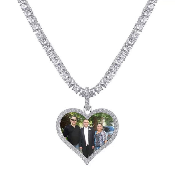 Heart  Personalized Photo Necklace