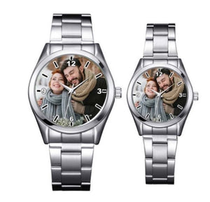 Platinum Plated Personalized Photo Watch