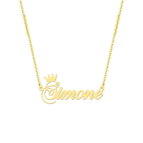 Crown Personalized Necklace