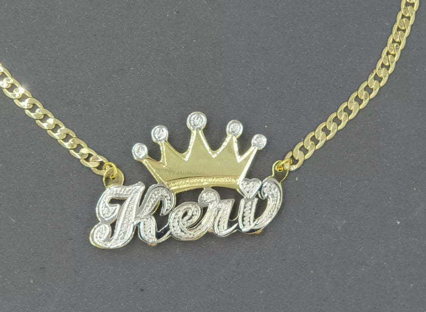 Keri Crown Personalized Necklace