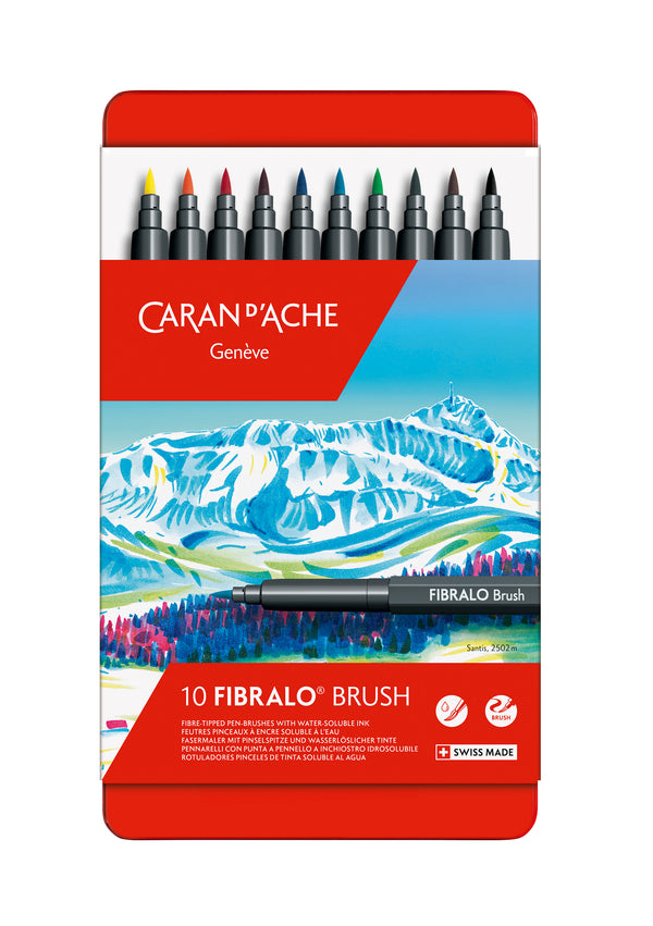 FIBRALO Brush MARCADORES 10 colores