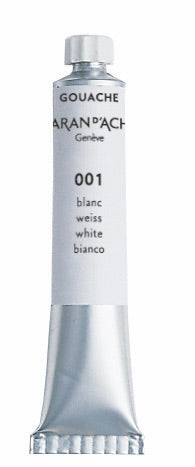 Gouache tubo blanco, 21 ml