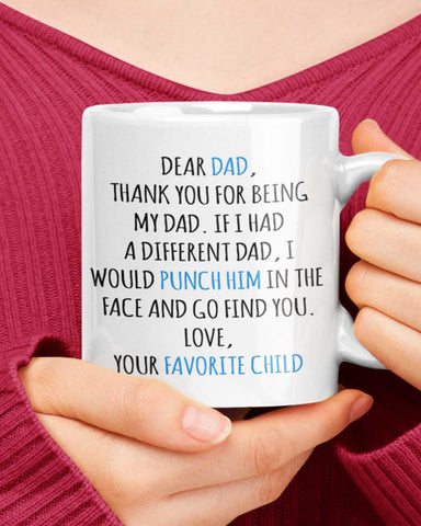 Punch Him Father Mug