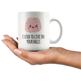 Live In Your Balls Father's Day Mug
