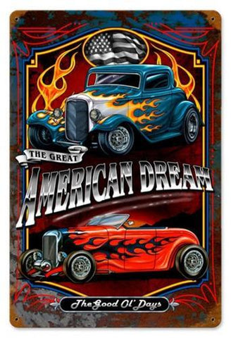American Dreams Metal Sign