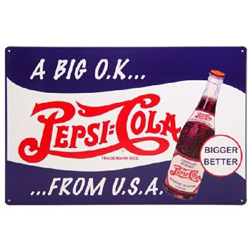 Pepsi-Cola Metal Sign
