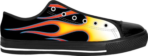 Hot Rod Flames Low Tops
