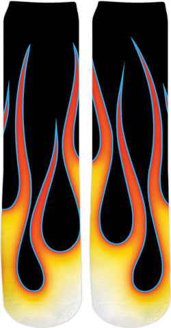 Hot Rod Flames Crew Socks