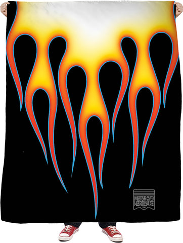 Hot Rod Flames Fleece Blanket