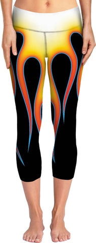 Hot Rod Flames Yoga Pants