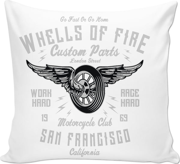 Wheels of Fire Couch Pillow