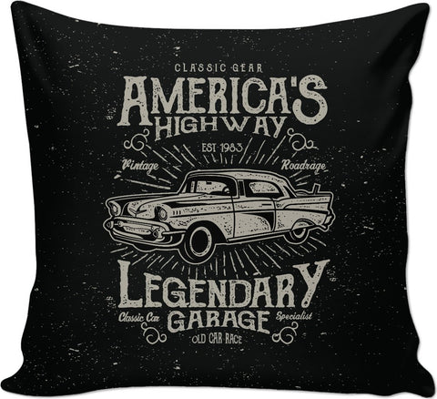 America's Highway Couch Pillow