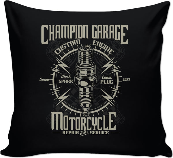 Champion Garage Couch Pillow