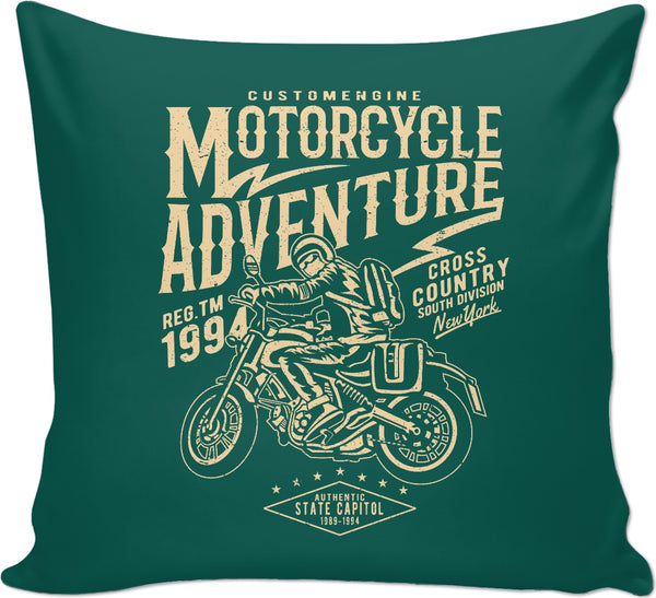 Motorcycle Adventure Couch Pillow