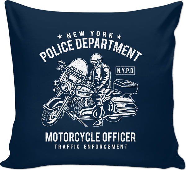N.Y.P.D. Motorcycle Officer Couch Pillow