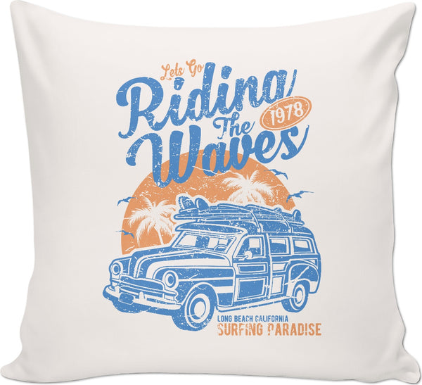 Riding the Waves Couch Pillow